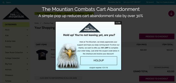 Cart abandoner The mountain