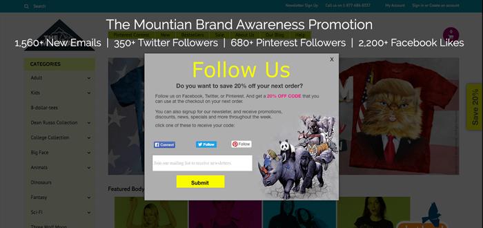 The mountain brand awareness