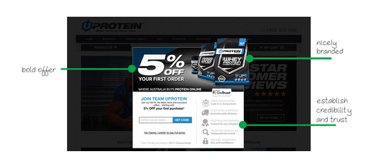 Discount pop up UProtein