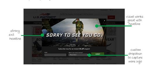 Exit Intent US Patriot Tactica