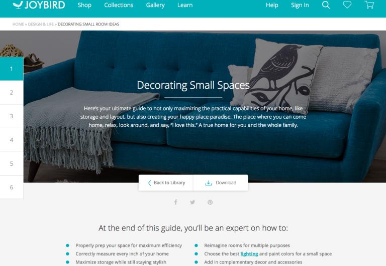 Joybird's design blog