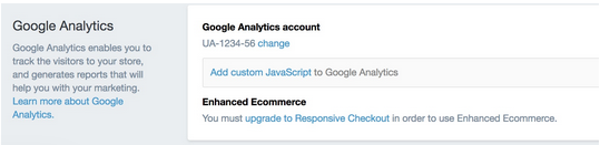Google Analytics Embed Code