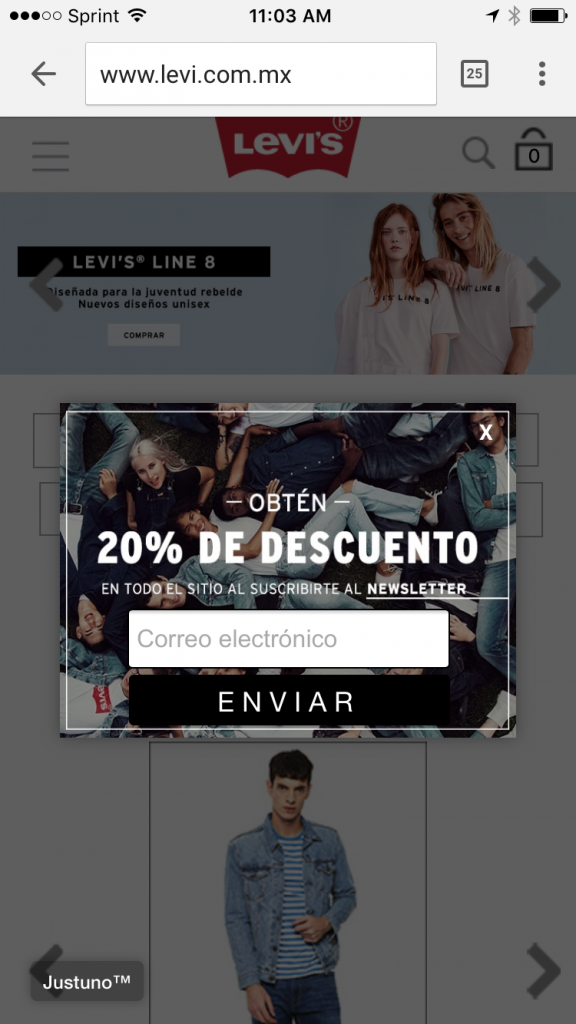 Levis geo-targeted mobile