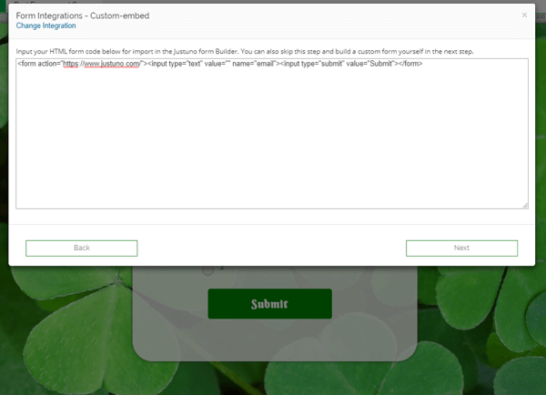 Custom HTML Form