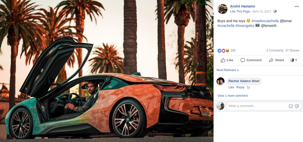 Facebook BMW Influencer