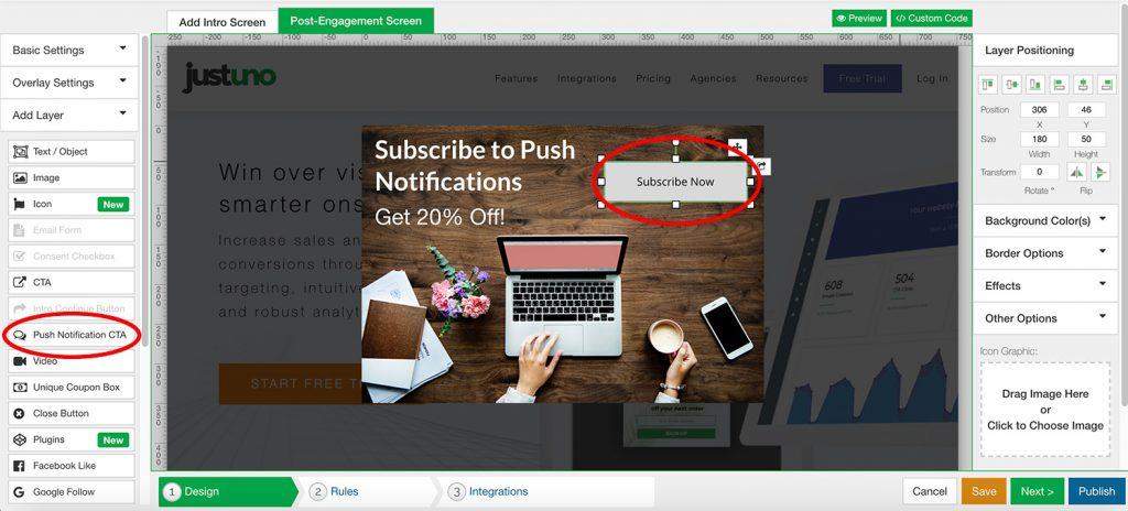 Push Notifications Step 1