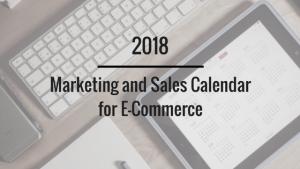 2018 marketing calendar