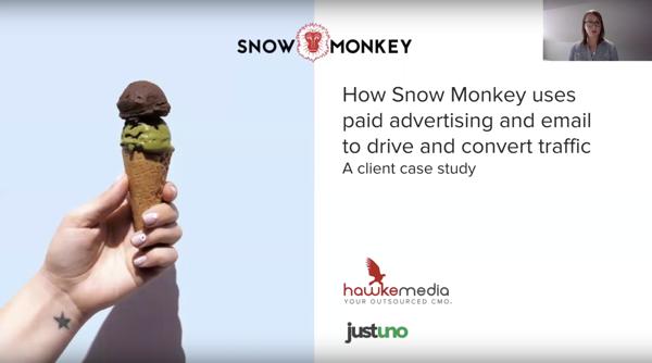 Hawke Webinar – Snow Monkey Case Study: Email, Paid Ads & Justuno