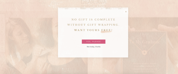 Gift Wrapping Promotion