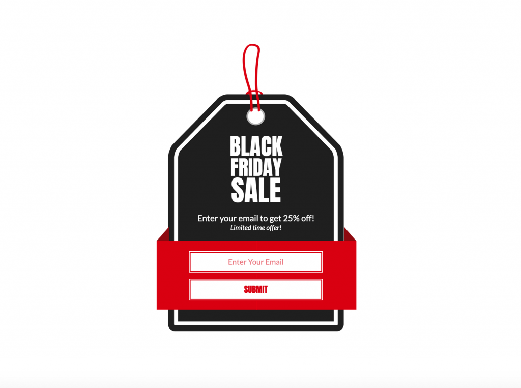 Black Friday pop-up