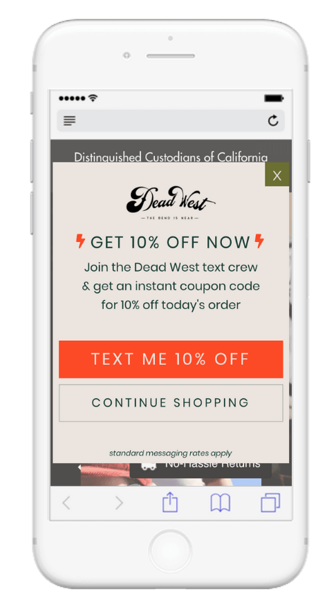 SMS Opt-in Promotion