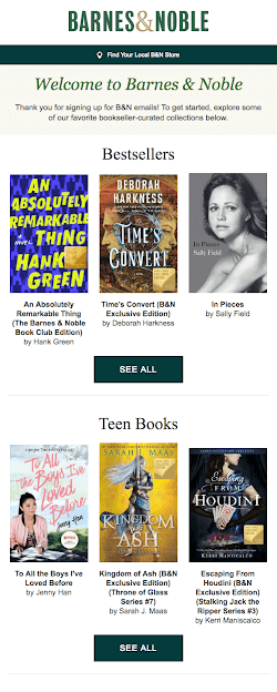 Barnes & Noble Emails