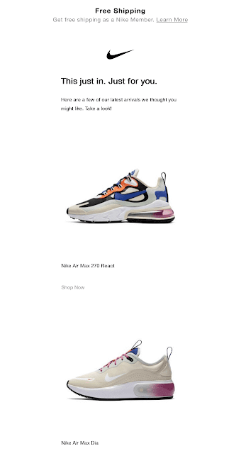 Nike product email