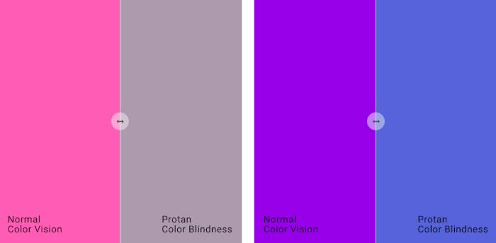 Color blind comparison