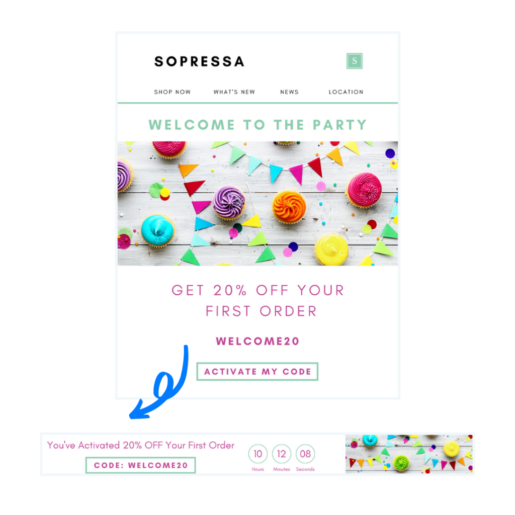 Welcome Email & Timer Banner