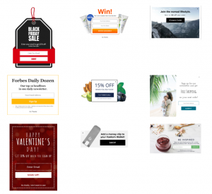 pop up design examples and inspiration