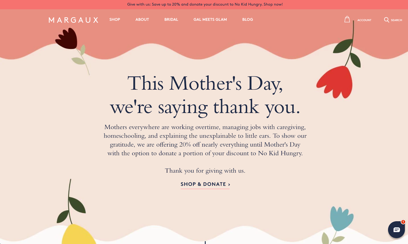 Mothers Day Banner Margaux