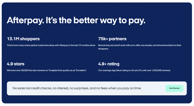 afterpay - the better way to pay